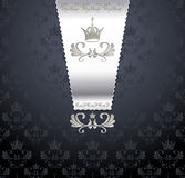 Königliches nahtloses Muster mit Krone Lizenzfreies Stockbild