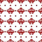 Königliches nahtloses Muster mit roten Kronen stock abbildung