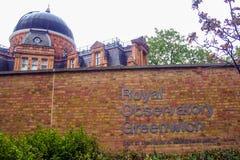 Königliches Observatorium Greenwich Stockfotografie