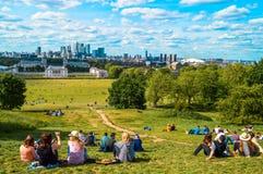 Königliches Observatorium London Greenwichs Stockbilder