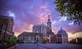 Königliches Observatorium von Greenwich, London Stockbilder