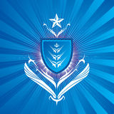 Königliches Schildblau Lizenzfreie Stockbilder