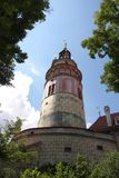 Königliches Schloss in Cesky Krumlov Stockbild