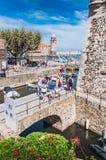 Königliches Schloss Collioure in den Pyrenäen-Orientales, Frankreich lizenzfreies stockbild
