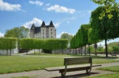 Königliches Schloss in der französischen Stadt Pau Lizenzfreies Stockfoto