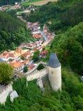 Königliches Schloss Karlstejn in der Tschechischen Republik Lizenzfreies Stockfoto