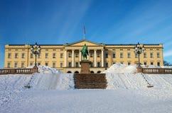 Königliches Schloss, Oslo Stockfotografie