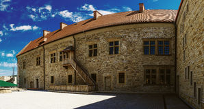 Königliches Schloss Sanok wurde in Ende des 14. Jahrhunderts in Polen errichtet Lizenzfreie Stockfotografie