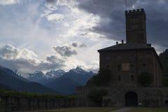 Königliches Schloss in Sarre, Aosta lizenzfreie stockfotografie