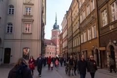 Königliches Schloss in Warschau Stockbild