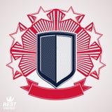 Königliches stilisiertes Vektorbildzeichen Schild mit Sternen 3d Lizenzfreies Stockfoto