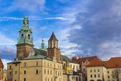 Königliches Wawel Schloss in Krakau, Polen Stockbilder