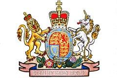 Königreich-Emblem getrennt auf Weiß Lizenzfreies Stockfoto
