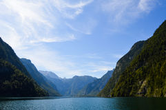 On the Königsee lake Royalty Free Stock Images