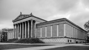 Königsplatz in München. Germany Black and White Stock Images