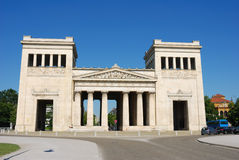 Königsplatz Munich. Historic building against blue sky Royalty Free Stock Photos