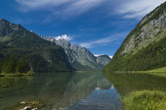 Königssee. The famous Bavarian Königssee in Germany, Europe Stock Image