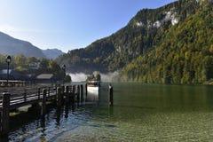 Lake Königssee, near Berchtesgaden, South-Bavaria, Germany Stock Photography