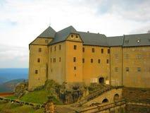 Königstein Fortress. Königstein Fortress, the Saxon Bastille, is a hilltop fortress near Dresden Stock Image