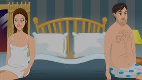 Könlösa sovrumpar vektor illustrationer
