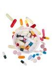 Können Sie von den Pillen von der oben genannten Vertikale stockfoto