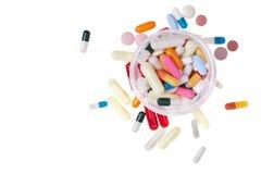 Können Sie von den Pillen von oben stockbilder