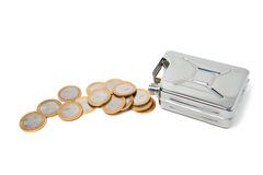 Können und Münzen Lizenzfreie Stockfotografie