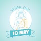 10 können Vesak-Tag Vektor Abbildung