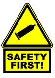 Könsbestämma säkerhet först ett varnande tecken stock illustrationer
