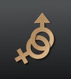 Könsbestämma symbolen Royaltyfri Fotografi