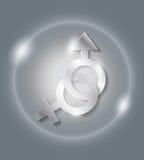 Könsbestämma symbolen Fotografering för Bildbyråer