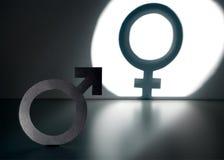 Könsbyte, genusåtertilldelning, transgender och sexuell identitet royaltyfria foton