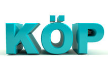 Köp. Swedish word for Buy Stock Photography