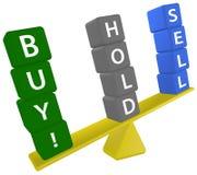 köp beslutshållen som investerar scalesellmaterielet Fotografering för Bildbyråer