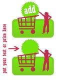 köp den gröna symbolen Arkivbilder