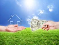 köp det nya huset Fotografering för Bildbyråer