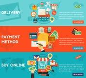 Köp direktanslutet, betalningmetoder och leveransbegreppet Royaltyfria Foton