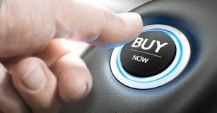 Köp en ny bil nu royaltyfria foton