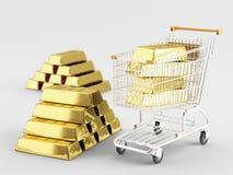 Köp guld Arkivfoto