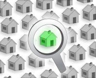 köp huset vektor illustrationer