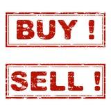 Köp och sälj textur för rubber stämpel stock illustrationer