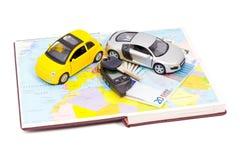 Köpa bekväma bilar som reser Arkivbild