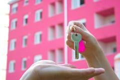 Köpa en ny lägenhet Royaltyfri Fotografi
