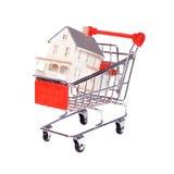 köpande begreppshus Fotografering för Bildbyråer
