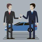 köpande bil för affärsman vektor illustrationer