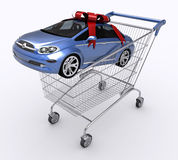 köpande bilvagnsshopping Royaltyfri Foto