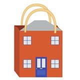 köpande hus stock illustrationer