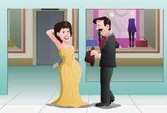 köpande klänning för fru Royaltyfri Foto