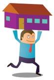 Köpande nytt hus Arkivbild