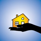 Köpande sälja av illustrationen för husutgångspunktbegrepp Arkivfoton